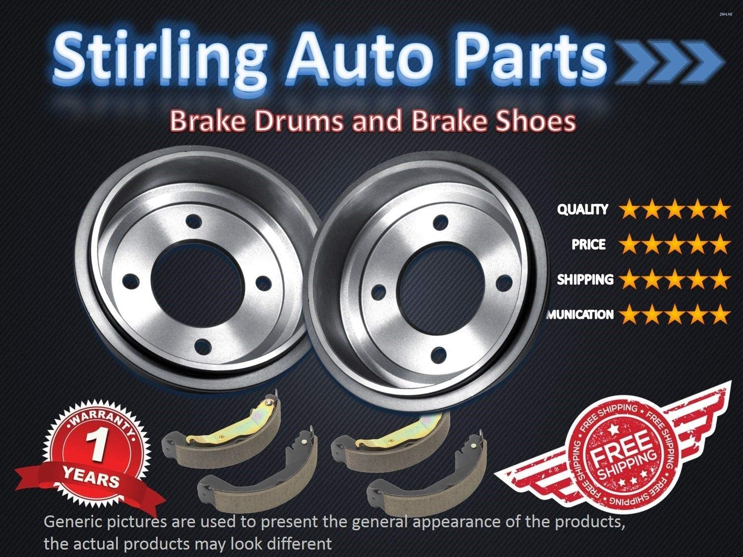 2002 for Ford Focus Rear Premium Quality Brake Drums And Shoes For Both Left and Right One Year Warranty