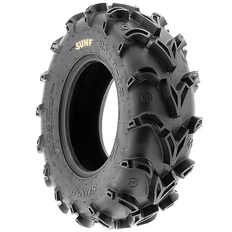 Set of 4 SunF Mud Race Replacement ATV UTV 6 Ply Tires 25x8-12 25x8x12 Tubeless A050,