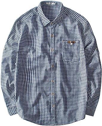 AIEOE - Hombres Camisa de Cuadros de Lino Blusa Rebeca Suelta ...