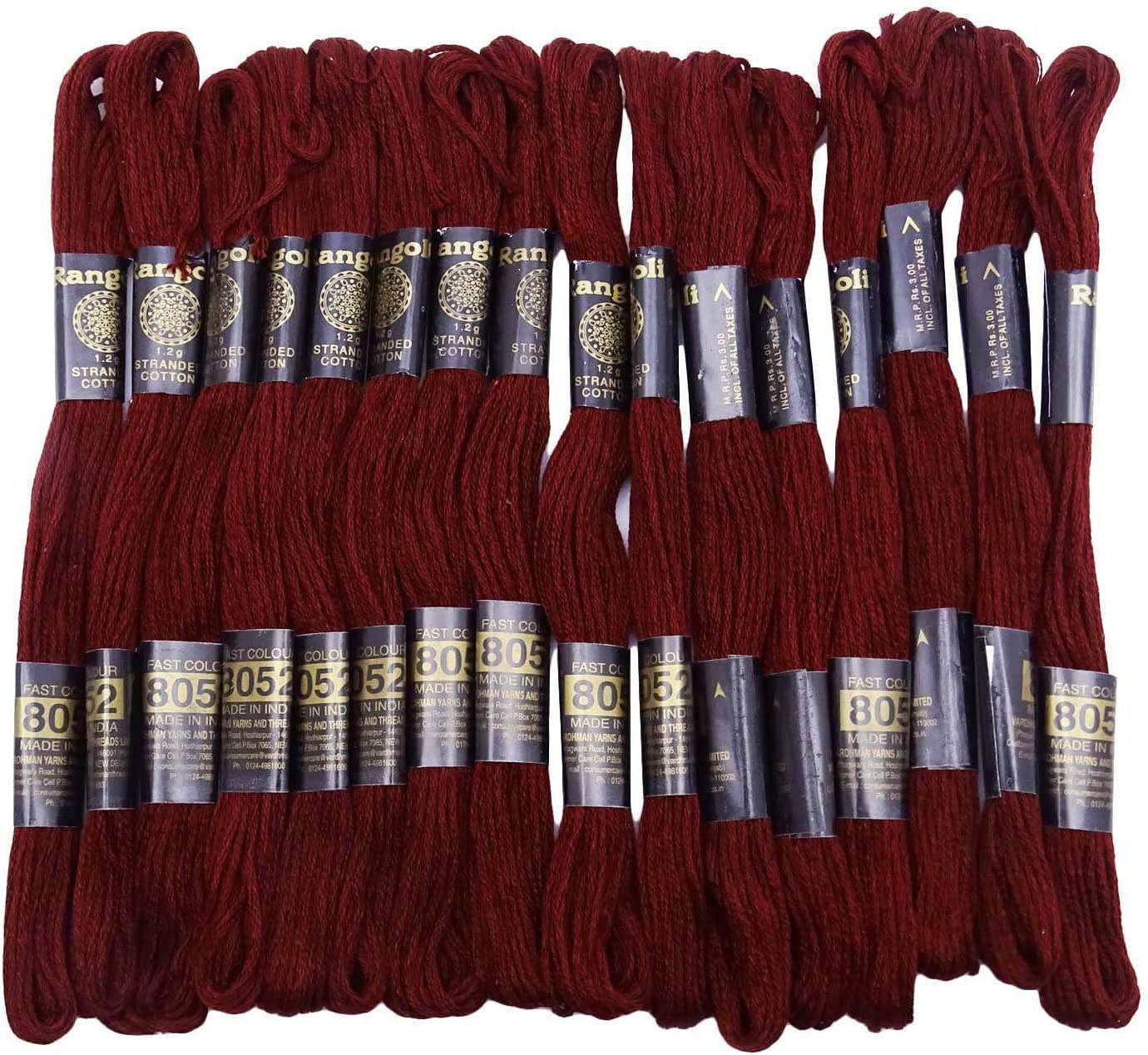 IBA Indianbeautifulart 25 Pcs Paquet Coton /à Coudre Broder Knitting Floss Skeins Point