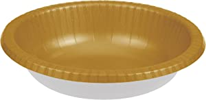 Creative Converting PAPER BOWLS 20 OZ, Glittering Gold