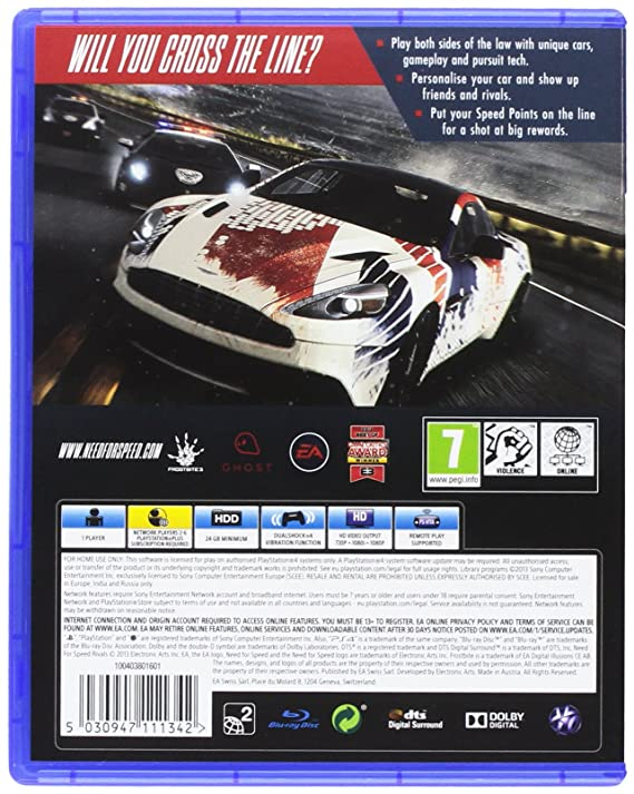Buy Need For Speed: Rivals Hits (PS4) Online at Low Prices
