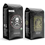 DEATH WISH Coffee - The World's Strongest Coffee [1 lb] and VALHALLA JAVA Odinforce Blend [12 oz] Ground Coffee in a Bundle/P