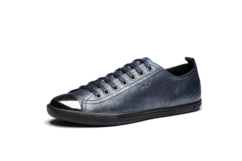 OPP Hombres Flats Zapatos de Piel 41 EU Azul-1