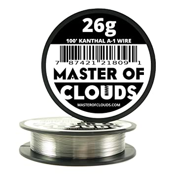 100 ft - 26 Gauge Kanthal A1 Resistance Wire AWG 100\' Lengths ...