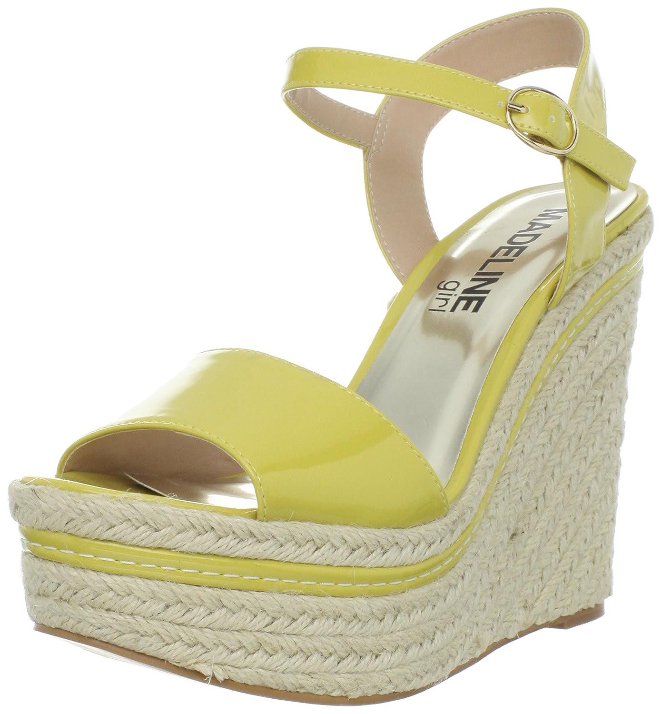 MADELINE girl Women's Surf Ankle-Strap Sandal B005P06FG8 7 B(M) US|Yellow Patent