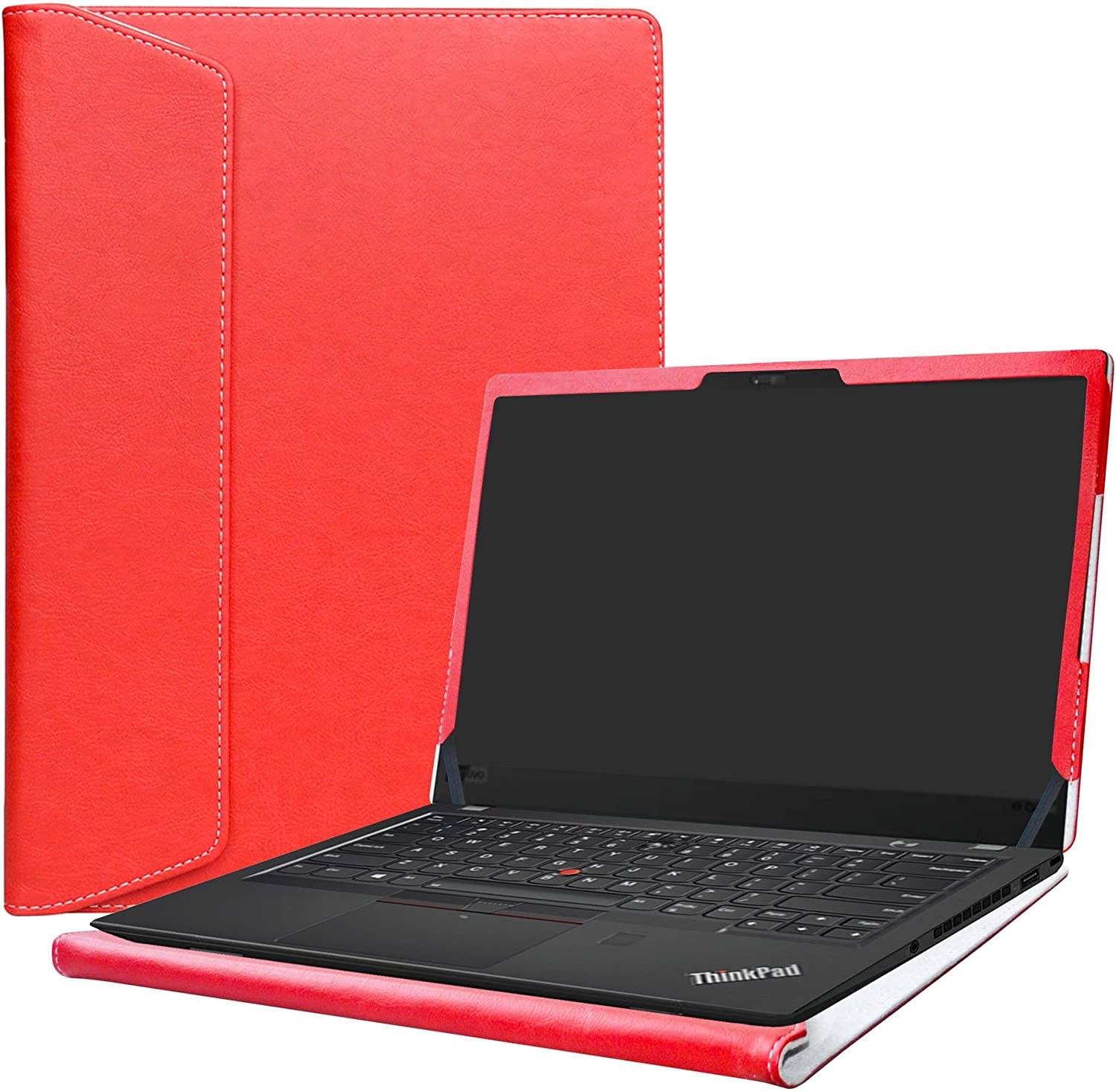 "Alapmk Protective Case Cover For 14"" Lenovo Thinkpad X1 Carbon 7th Gen/6th Gen/5th Gen & ThinkPad X1 Yoga 4th gen Laptop(Note:Not fit Thinkpad X1 Carbon 1st Gen/2nd Gen/3rd Gen/4th Gen),Red"