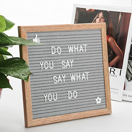 Small Letter Board Sign Felt Message Board 10x10 Inches With