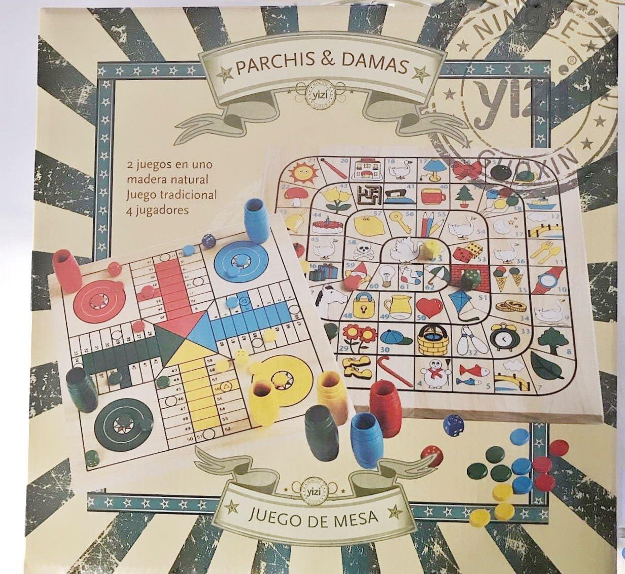Parchis-Oca Madera 30X30cm Caja Litografiada: Amazon.es: Juguetes y juegos
