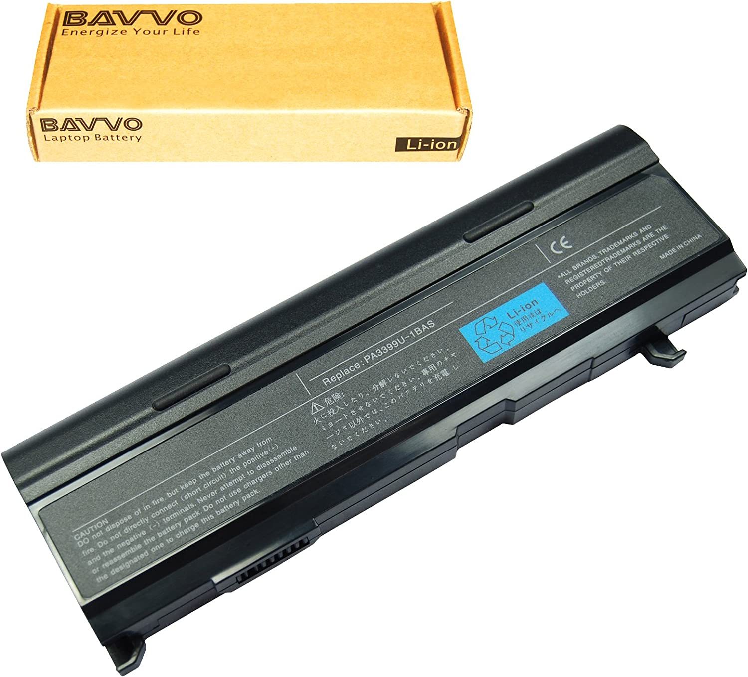 Bavvo 9-Cell Battery Compatible with Toshiba PA3399U-1BRS PA3399U-2BAS PA3399U-2BRS PA3478U-1BAS PA3478U-1BRS PABAS057 PABAS076 PABAS077
