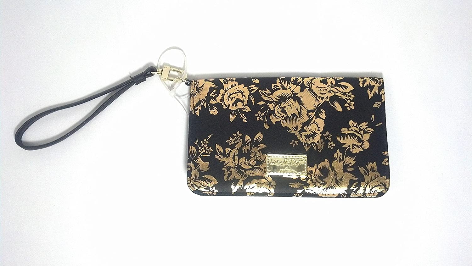 Black and Rose LBGLITZY Wristlet Handbag Betsey Johnson jH9fLfI4