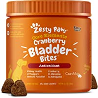 Zesty Paws Cranberry Bites for Dogs - Kidney, Bladder & Urinary Tract (UT) Support - Functional Dog Supplement with D…