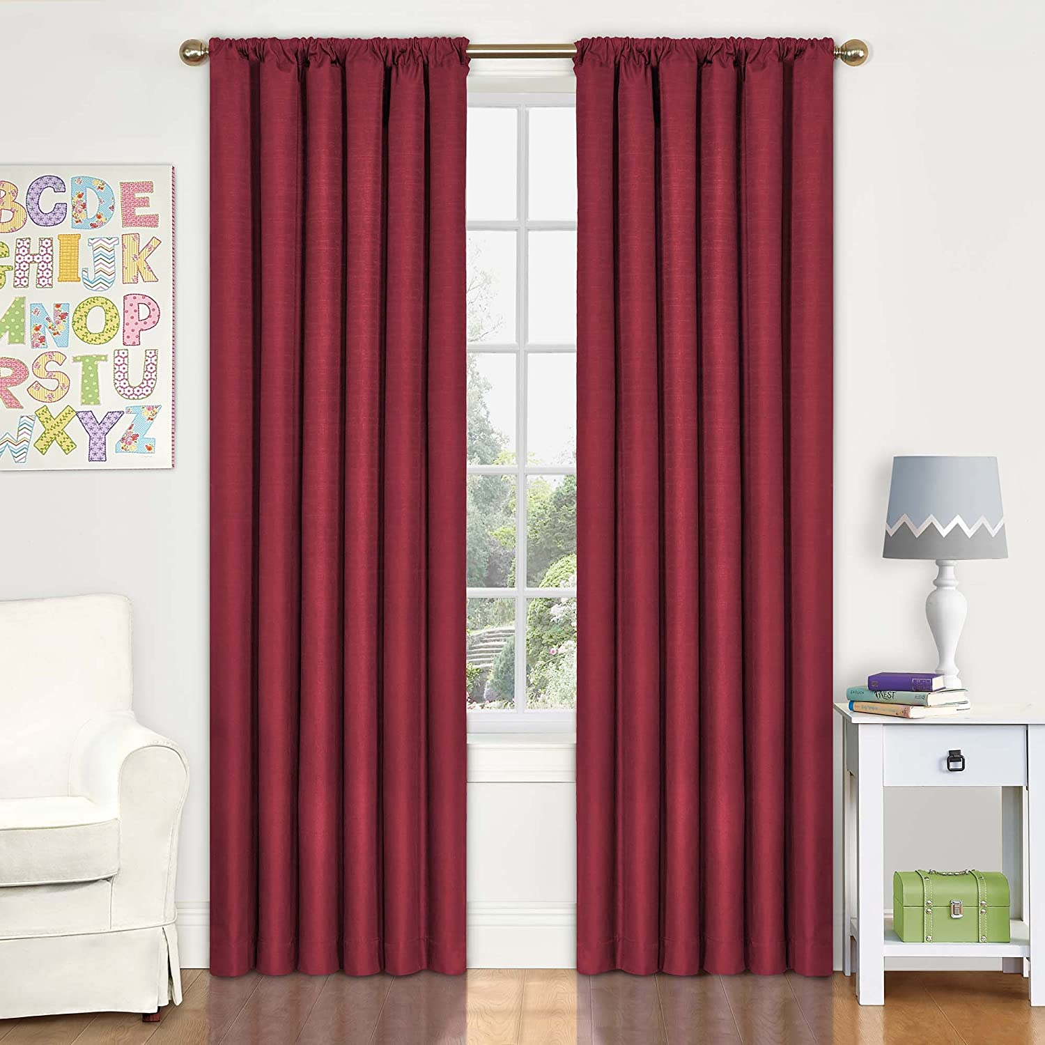 Eclipse 42-Inch by 63-Inch Kids Kendall Blackout Window Panel, Purple 10707042X063PUR