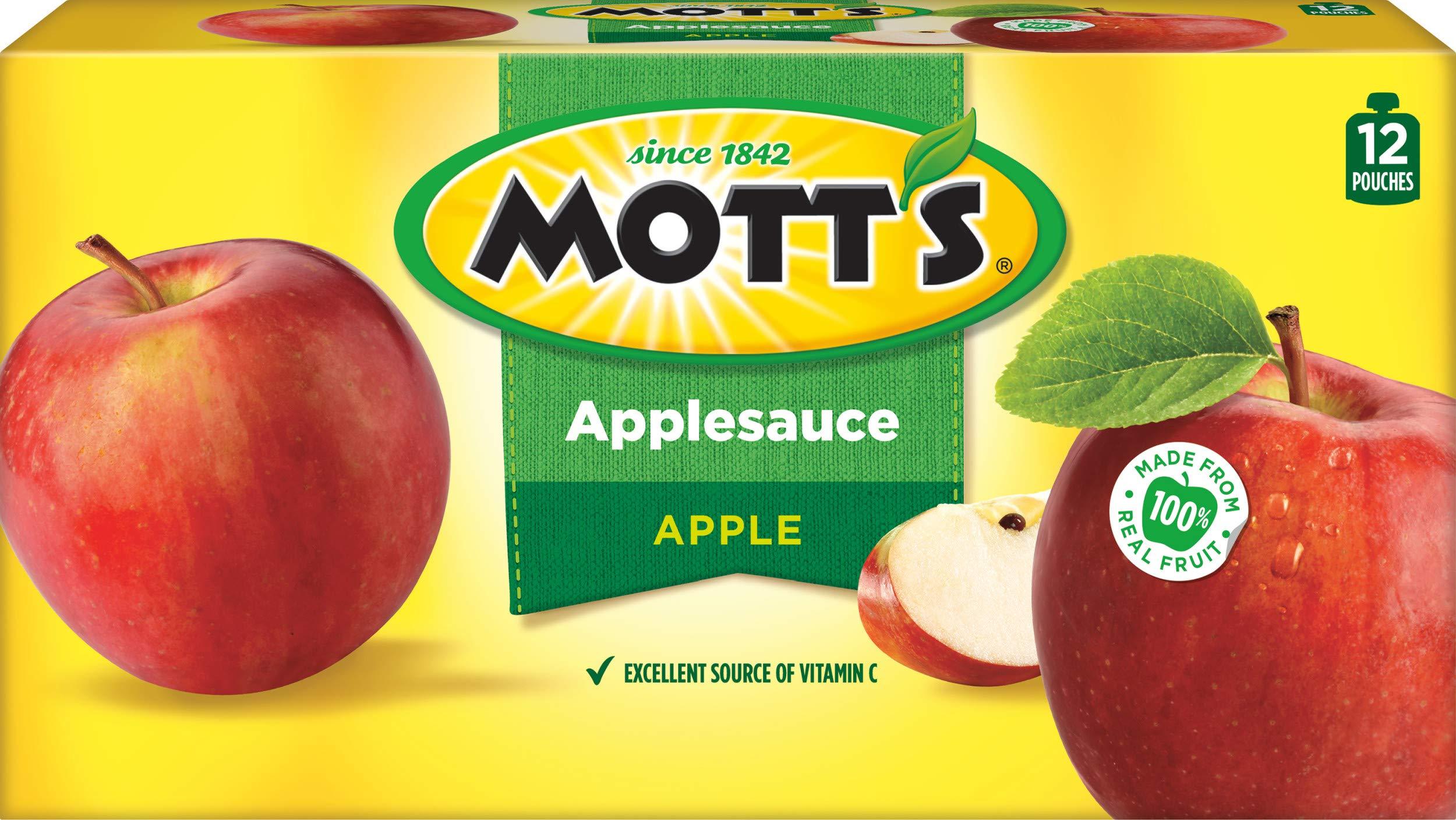 Mott's Snack & Go Applesauce, Original, 12 Count(Package may Vary)