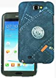 Heartly Jeans Style Printed Design High Quality Hard Bumper Back Case Cover For Samsung Galaxy Note 2 II N7100 - Big Pocket