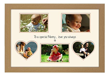 Home Decor Photo & Picture Frames 2 Picture Double Oak Wooden Multi Aperture Collage Photo Frame 4 x 6 Christmas