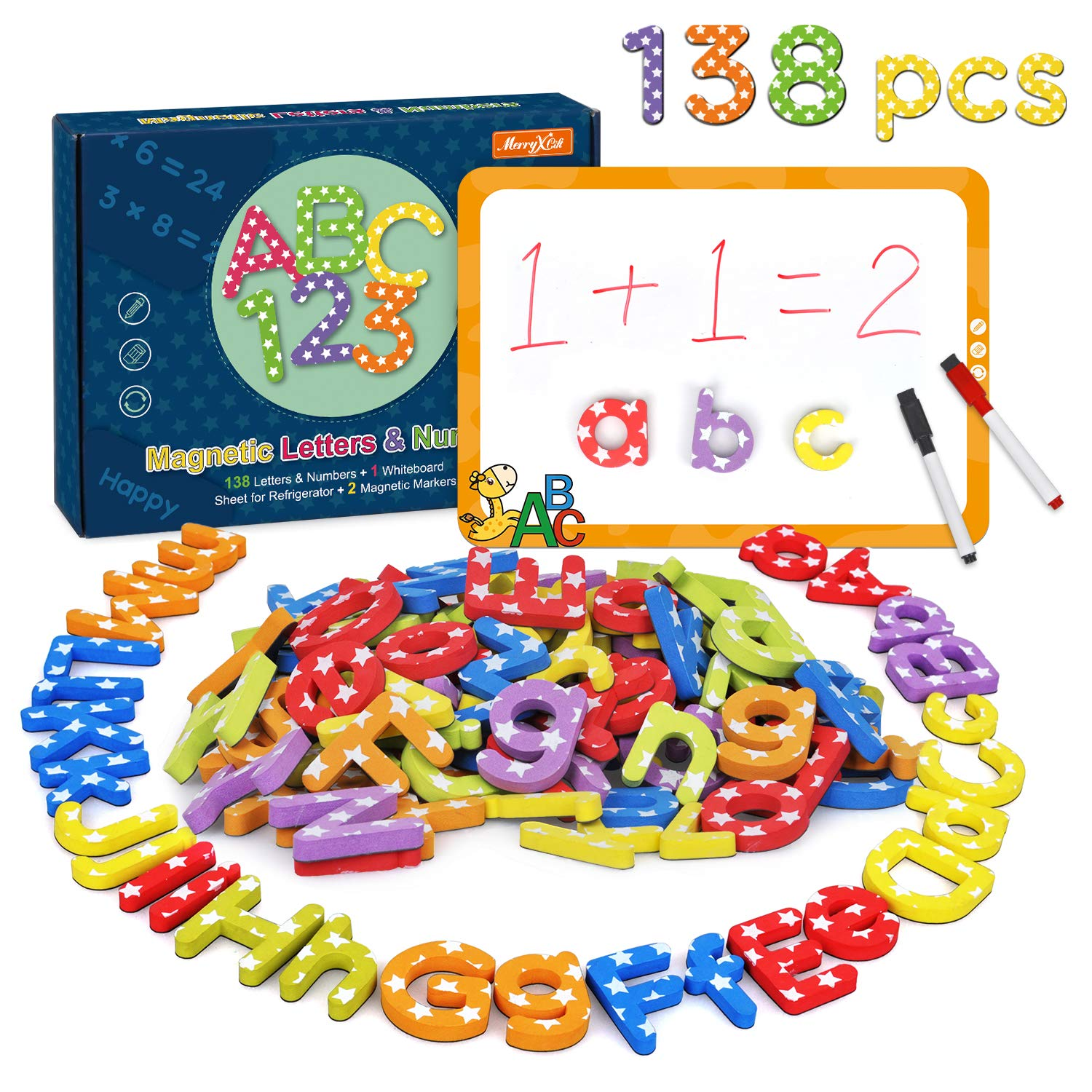 Magnetic Letters and numbers 138pcs