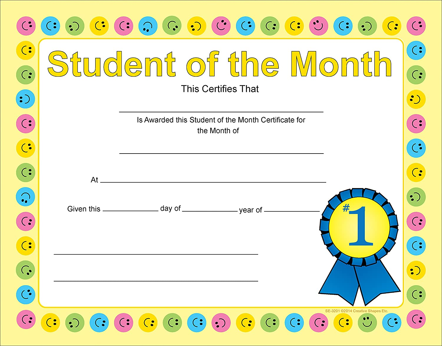 Amazon Student Of The Month Recognition Certificates Office