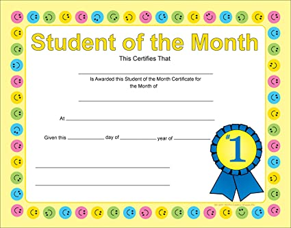 amazon com student of the month recognition certificates office