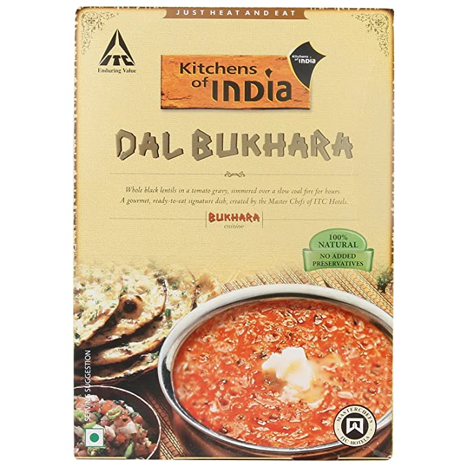 Kitchens Of India Ready To Eat Gravy   Dal Bukhara, 285g Carton