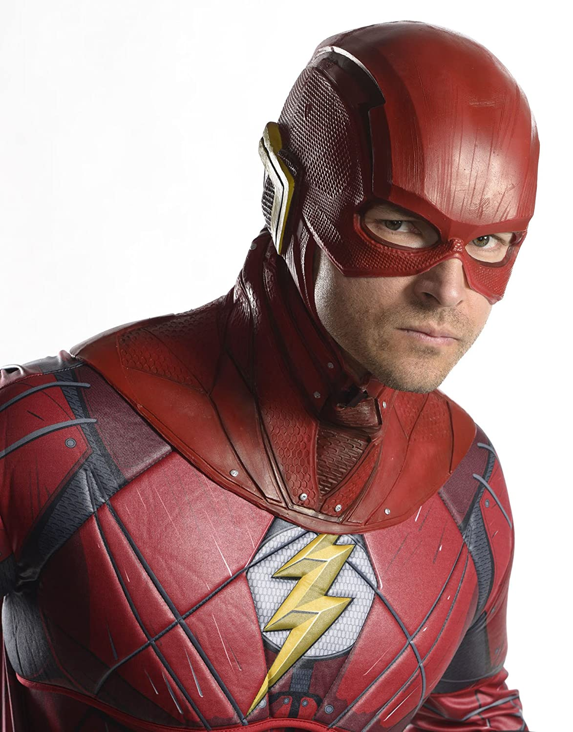 Adult Licensed Overhead THE FLASH Costume Mask W//Cowl