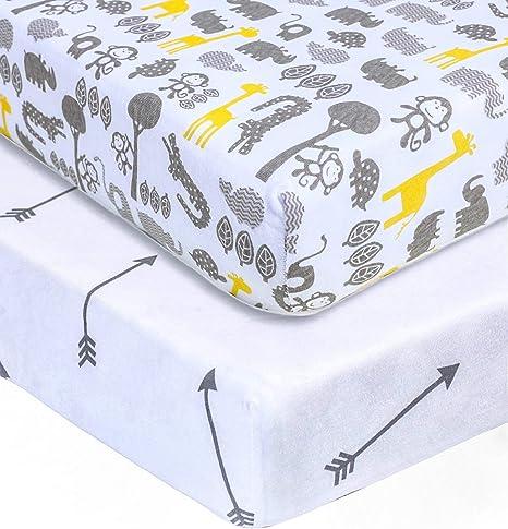 Gender Neutral Crib Sheets Diaper Changing Pad Cover Fitted Crib Sheet Nest Art Gallery Fabric Mini Crib Sheet Teddy Bear