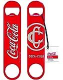 Tablecraft CC383 Coca-Cola Classic Logo Flat Bottle Opener, Red