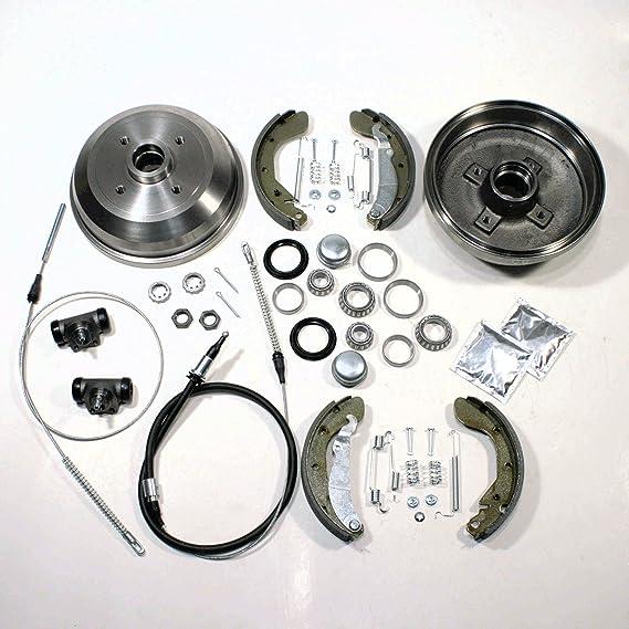 Bremstrommel Bremsen Set 2 X Handbremsseil Hinten Auto