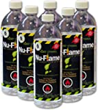 Nu-Flame Liquid Ethanol Fireplace Fuel, 1-Liter Bottle, 6-Pack