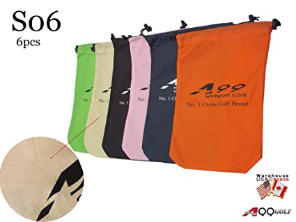 91872d6999f5 A99 Golf S06 Shoes Bag Nonwoven Fabric Tote Bag/Pouch 6 Pcs(Random Color)