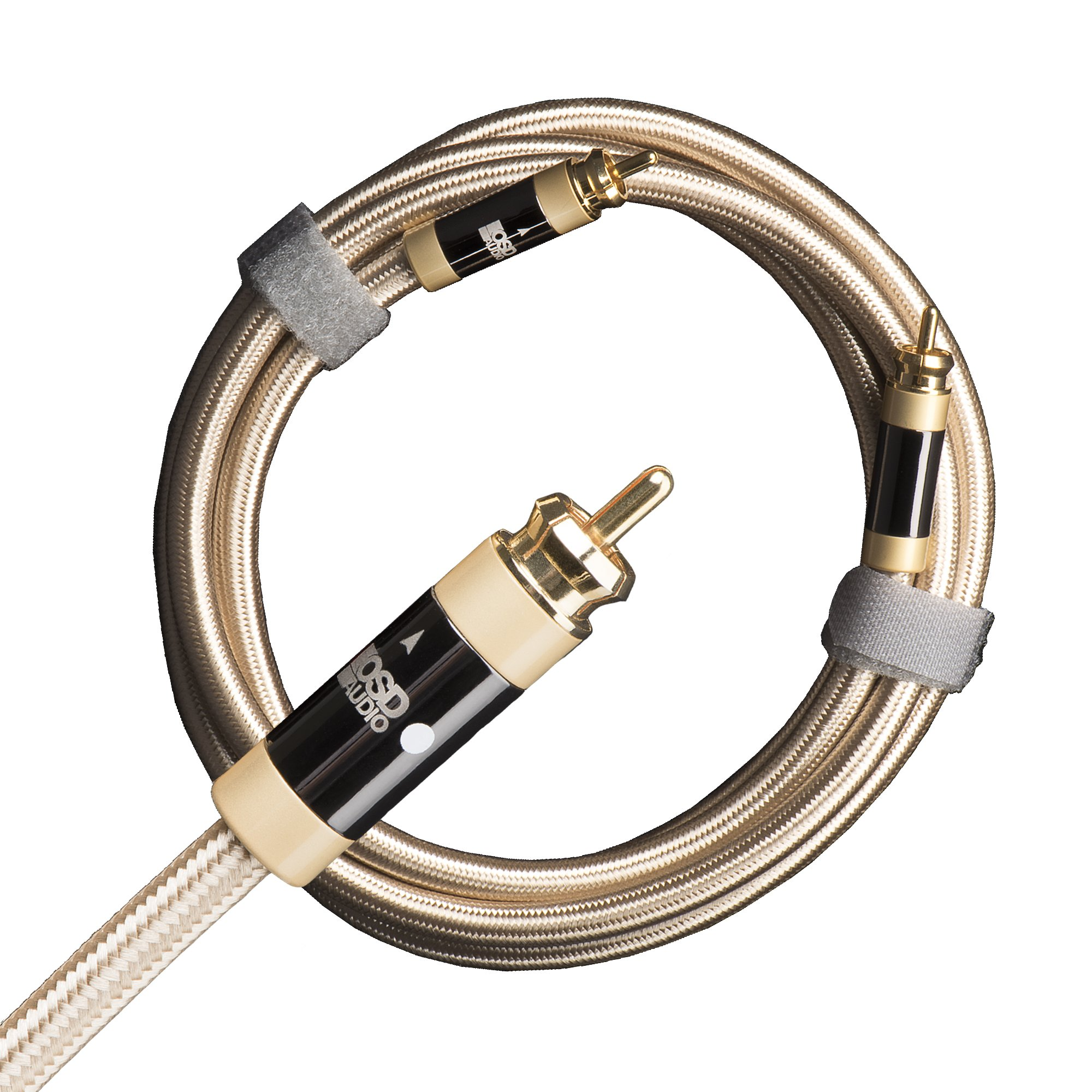 Aurum Ultra High-Performance, Unbalanced Subwoofer Cable, 100% Shield Low (Signal) Level RCA Male to RCA Male, Single Cable Up to 49' ((2M / 6.5Ft))