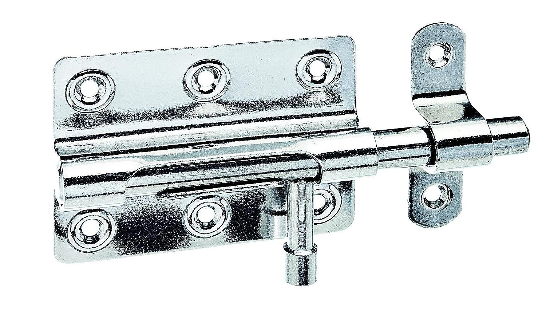 GAH-Alberts Verrou de box avec poignée ronde et passant fixé 80 x 59 mm Surface galvanisée à chaud (Jaune) 128975