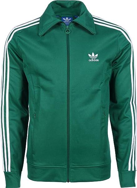 adidas Originals Hombres Sudadera Chaqueta - Green, M ...