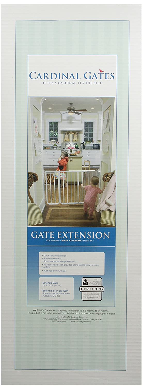 Cardinal Gates BX1-BK 10.5-Inch Pet Gate Extension, Black