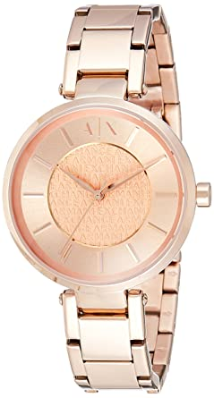 eac31f67ad6d Emporio Armani Exchange Damen-Uhren, roségold, 38 mm, AX5317  Amazon ...