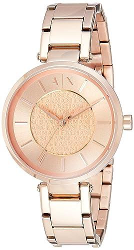 Armani Exchange Womens AX5317 Rose Gold Quartz Watch