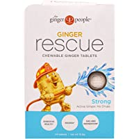 The Ginger People, Ginger Rescue, Chewable Ginger Tablets, Strong, 24 Tablets (15.6 g) - 2PC