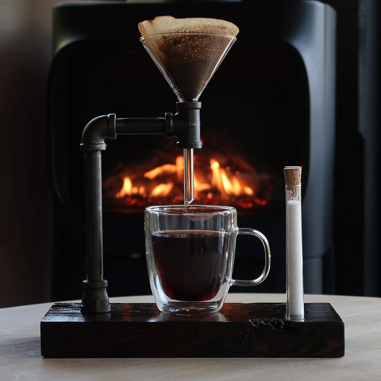 Pour Over Cafetera de filtro Industrial Single Pour Over Ebony: Amazon.es: Hogar