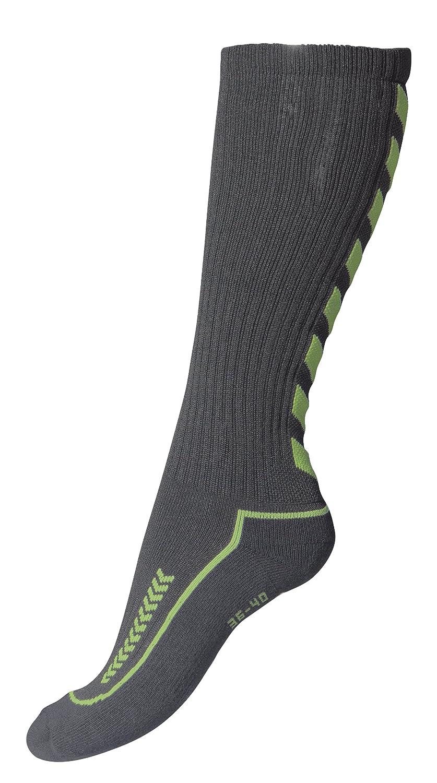 Hummel Kinder Advanced long Indoor Socke dunkelgrau/grün 32-35 (8) 21-059 6332