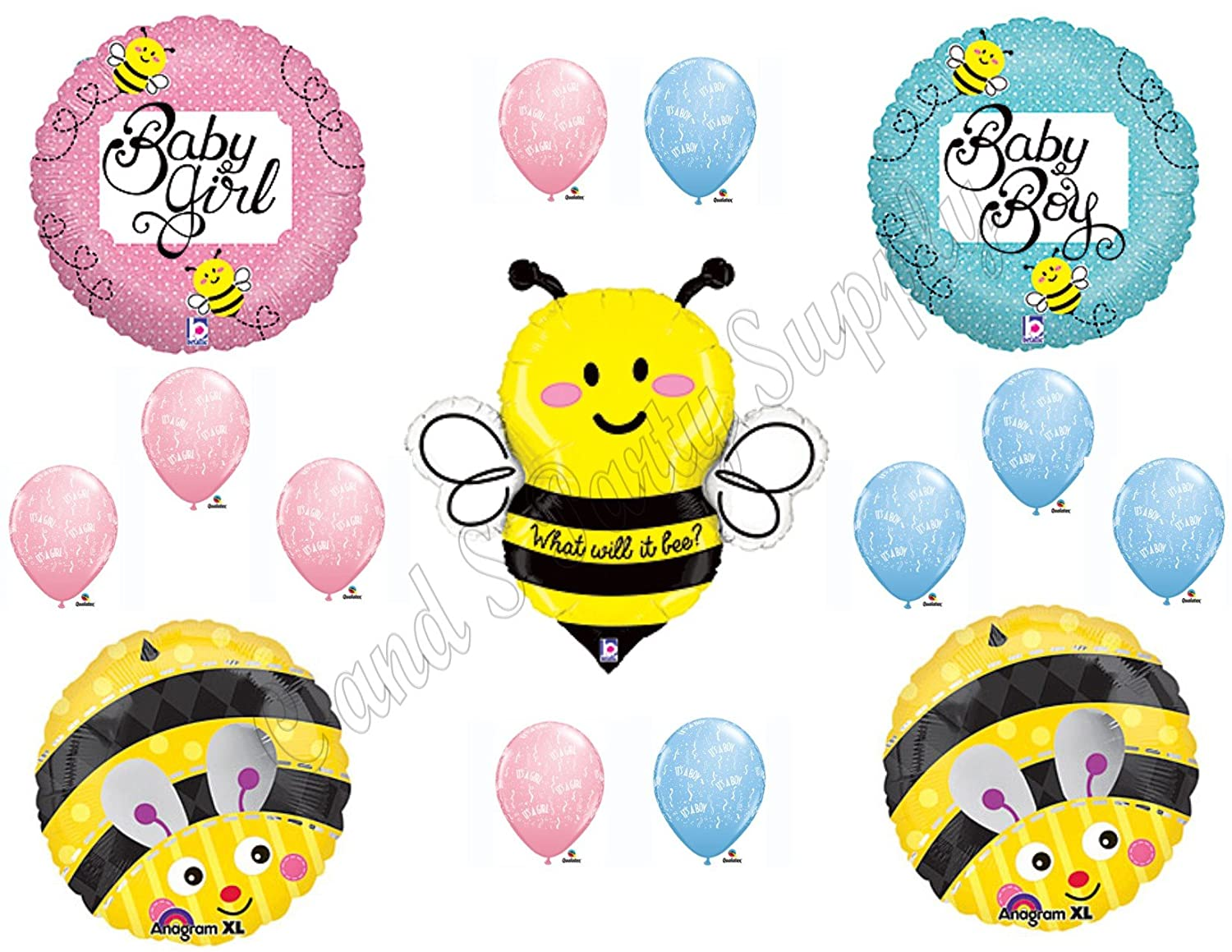 Amazon.com: What Will It BEE?? Baby Shower Gender Reveal Party ...