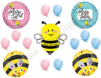 What Will It BEE Baby Shower Gender Reveal Party Balloons Decorations Supplies