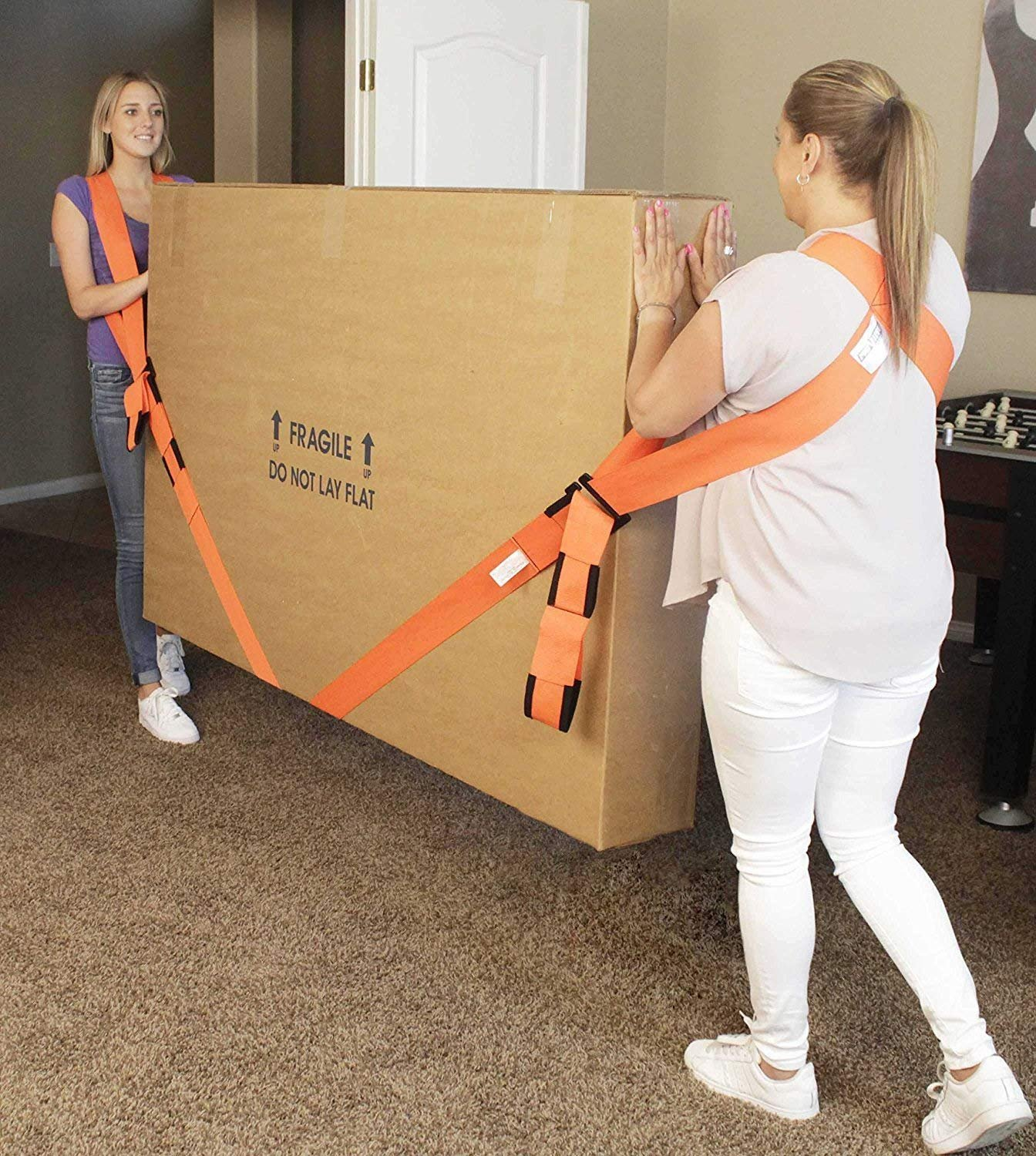 Lifting and Moving Straps,2 Person Shoulder and Wrist Moving Belts for Carrying Heavy Objects Appliances Furnitures,Without Back Pain