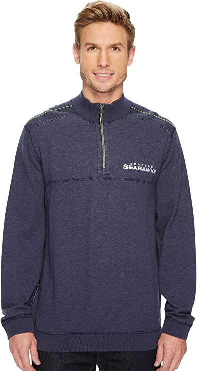 Tommy Bahama Mens Reversible NFL Flip Drive 1 2 Zip Pullover at Amazon Men s  Clothing store  afbcdb31d