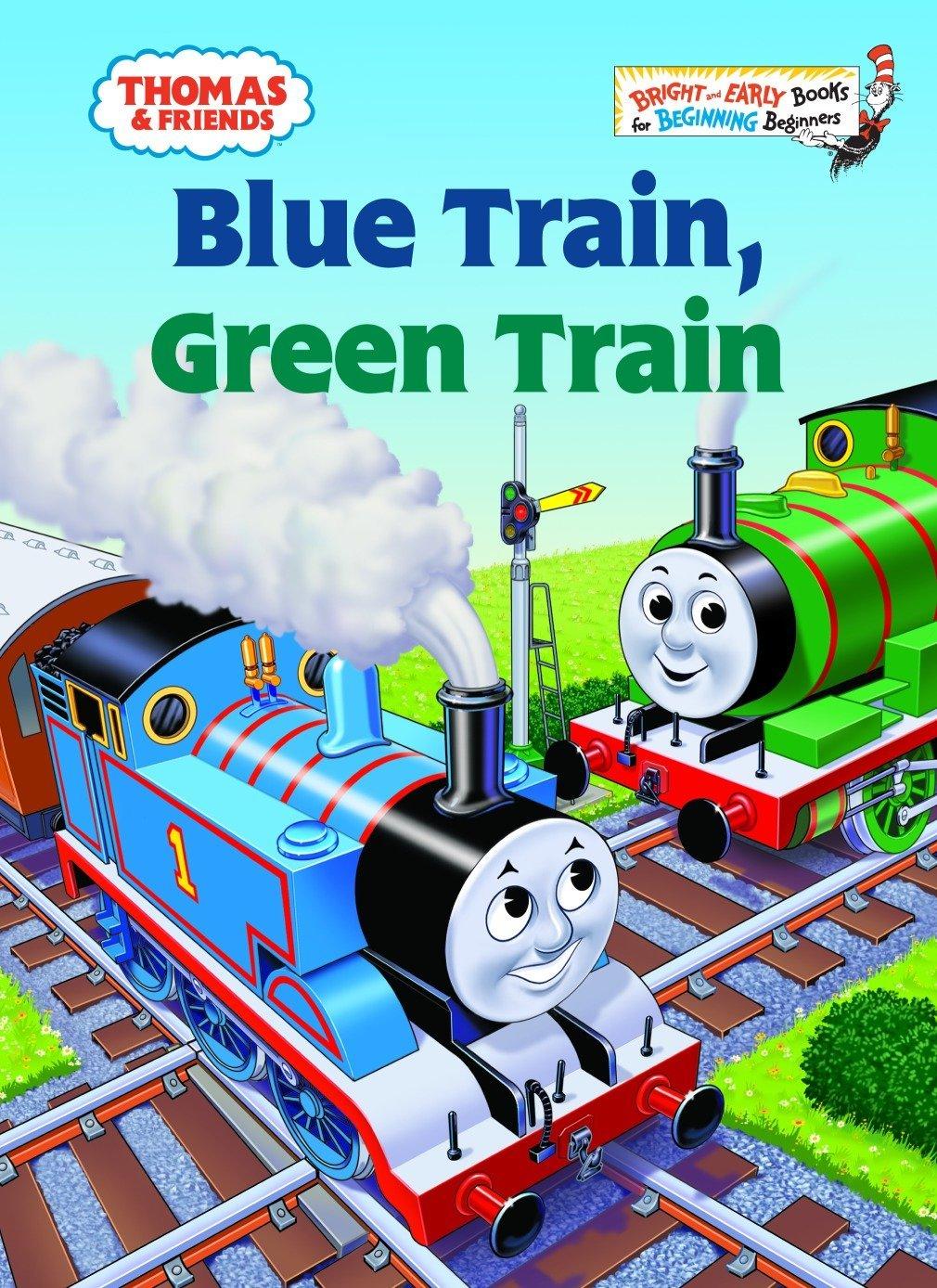 Amazon Com Thomas Friends Blue Train Green Train Thomas