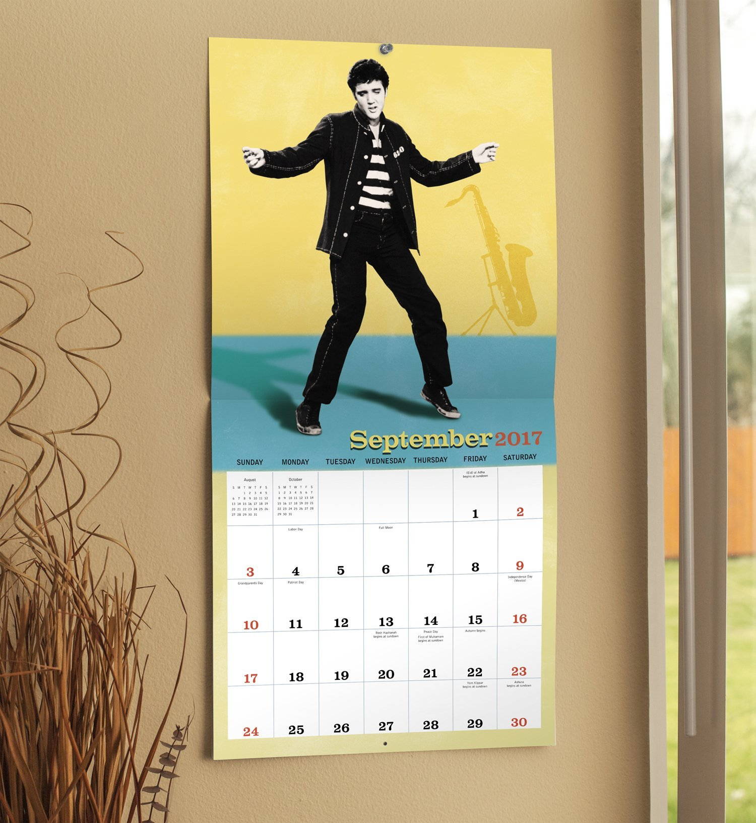 Elvis Presley Wall Calendar (2017): Mead: 0038576253674: Amazon.com ...