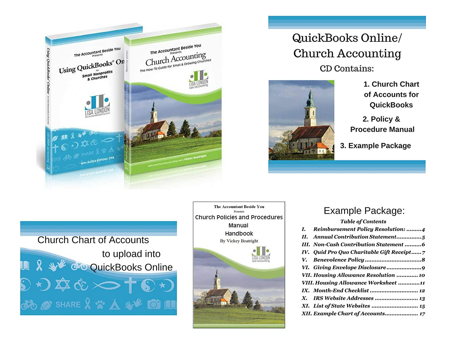 Amazon.com : How to Use QuickBooks for Your Church with Church Accounting  for Small Churches- Book/CD Set (Desktop (Pro, Premier, Nonprofit)) :  Office ...