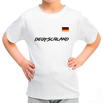 147ede65bee4a Lolapix Camiseta seleccion de Futbol Personalizada con Nombre y número.  Camiseta de algodón para niños. Elige tu seleccion. Alemania  Amazon.es   Hogar
