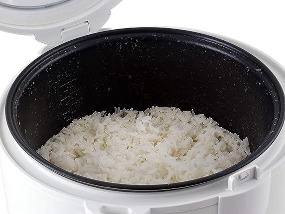 Beper BC.100 Olla Arrocera y Vaporera 4L 700W, cuchara o para arroz y taza medidora sumministrada, recepiente de aluminio, mantenimento calientes, canasta para cocinar al vapor, Blanca y Verde: Amazon.es: Hogar