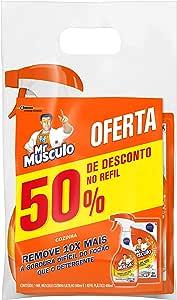 Limpador Desengordurante Mr Músculo Cozinha Total Pack Gatilho 500ml + Refil 400ml