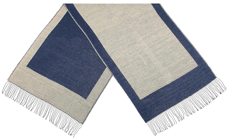 82040cbecf9 écharpe hiver femme foulard grande taille châle cache-col réversible franges  beige gris  Amazon.fr  Vêtements et accessoires